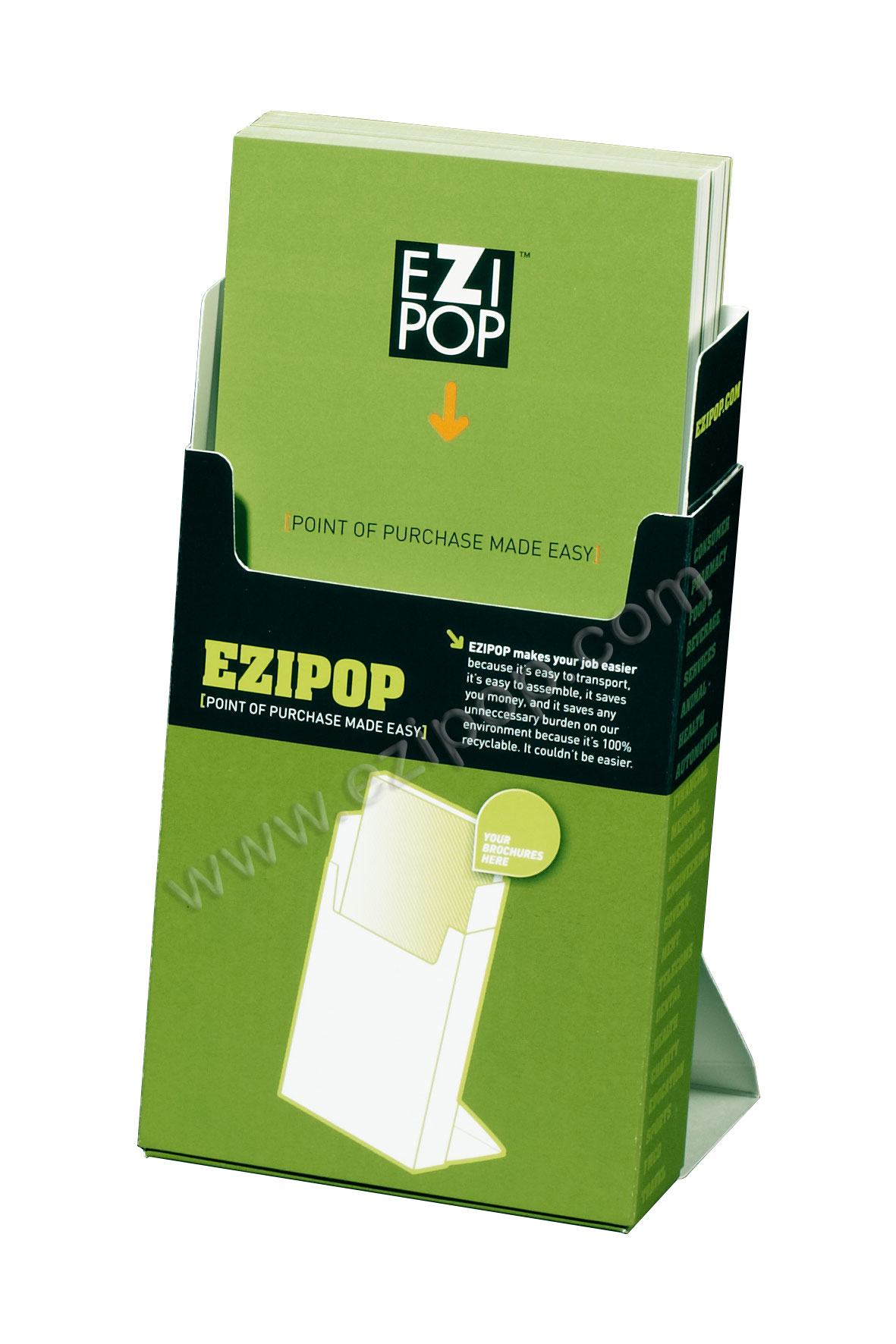 Plastic/Acrylic brochure holders...it's clear - EZIPOP cardboard ...