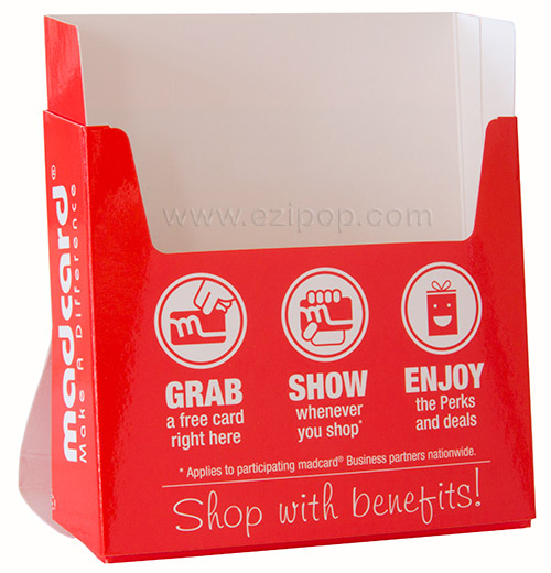 A6 size EZIPOP brochure holder